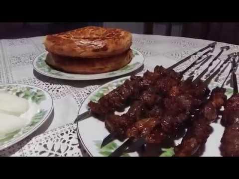 Пробуем сырдарьинский шашлык в кафе НАН