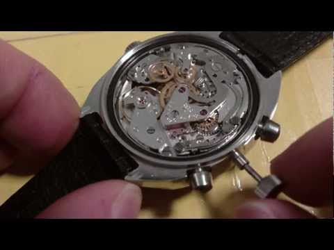 How to remove a wrist watch stem and crown. push type. Poljot 3133