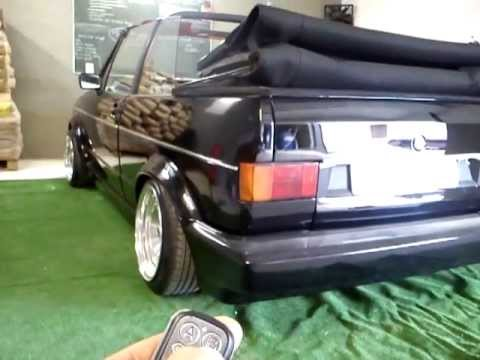 Volkswagen Golf Cabrio mk1 air ride test - YouTube