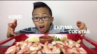 SHRIMP COCKTAIL | ASMR Eating Sounds | N.E Lets Eat