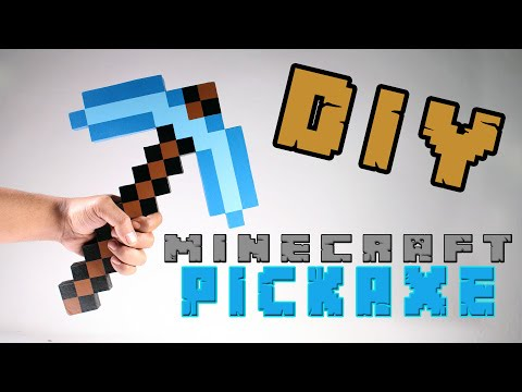 MINECRAFT - Cara Membuat Pickaxe Minecraft