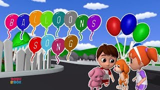 Balloons Song For Kids | Nursery Rhymes & Baby Song For Children By Luke and Lily