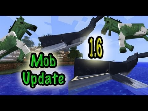 MineCraft 1.6 Snapshot 13w18a Whales, Fish, Monster Horses!