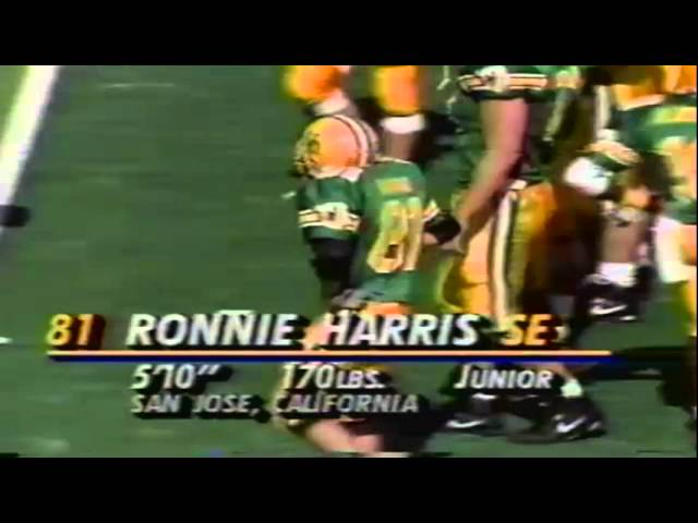 Oregon WR Ronnie Harris 13 yard catch vs. New Mexico State 10-05-91