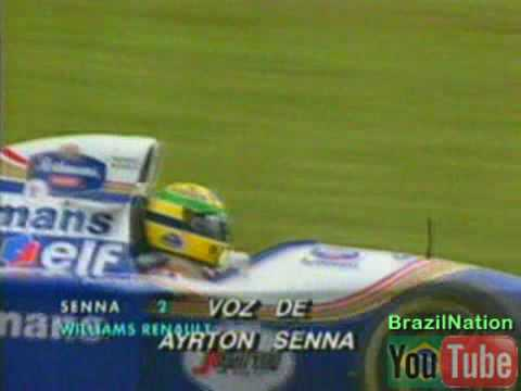 """Veja e ouça Ayrton Senna em seu """"passeio"""" pelo circuito de Interlagos em Março de 1994, durante os treinos livres, onde mostra cada detalhe de uma volta comp..."""