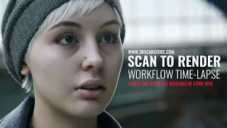 3D Face Scan to Final Render Time Lapse