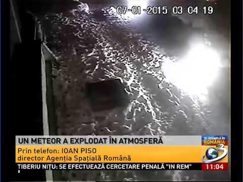 Un meteorit a aparut deasupra Romaniei
