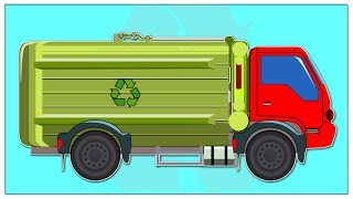 Garbage Truck | Car Garage For Kids And Babies | Cartoon about cars