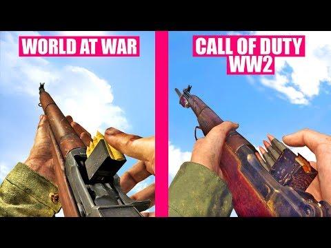 Call of Duty WW2 Gun Sounds vs Call of Duty World At War