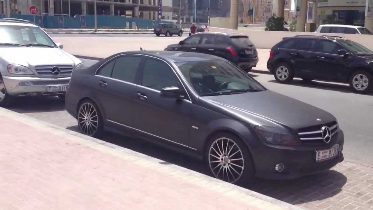 Matte black mercedes benz c300 youtube for Matte mercedes benz