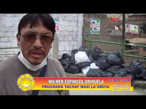 15/10/2014 LIMPIEZA DE RIVERAS LA OROYA = RIO YAULI