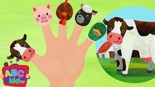 Finger Family Farm Animals | Nursery Rhymes & Kids Songs - ABCkidTV