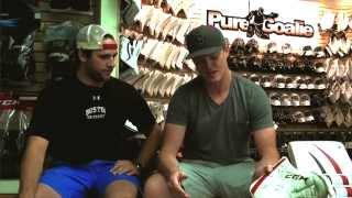 Gear Talk Cory Schneider Pads, Gloves & Blocker