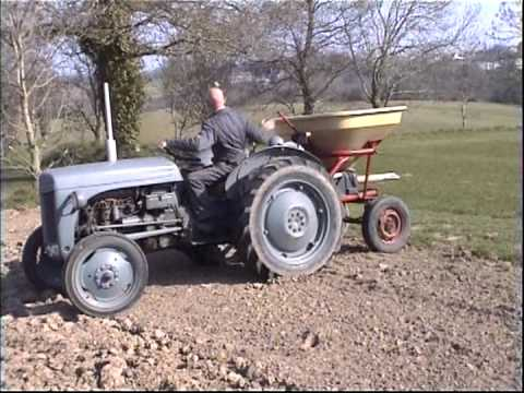 16 HP Ferguson TEA 20 sowing fertiliser in 1991 & 2009