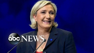 French presidential candidate Marine Le Pen and Europe