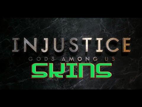 injustice gods among us all skins trajes part 1of 2
