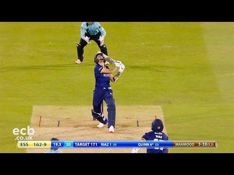 Surrey beat Essex Eagles by eight runs - watch the best bits