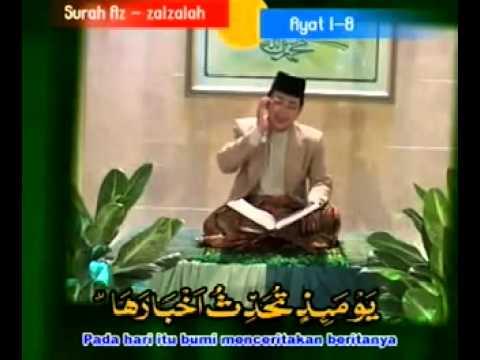 Indonesian Qori Muammar Za Surah Az Zalzalah video