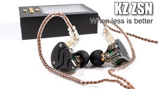 KZ ZSN hybrid earphones review