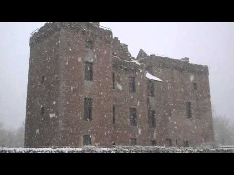 Snow Falling Huntingtower Castle Perth Perthshire Scotland