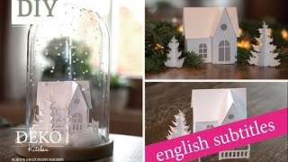Weihnachtsdeko basteln - Winterlandschaft Tutorial / Winter wonderland How-to | Deko Kitchen