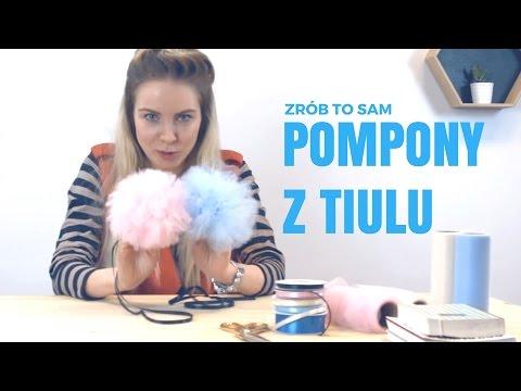 Jak Zrobić Pompony Z Tiulu? #DIY #POMPONY #TIULOWE