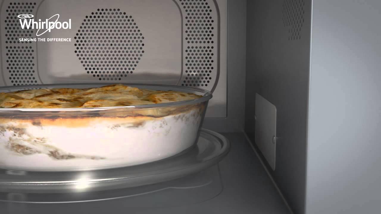 Tecnologia 6 senso con sensore di peso dei microonde whirlpool youtube - Cucinare con microonde whirlpool ...