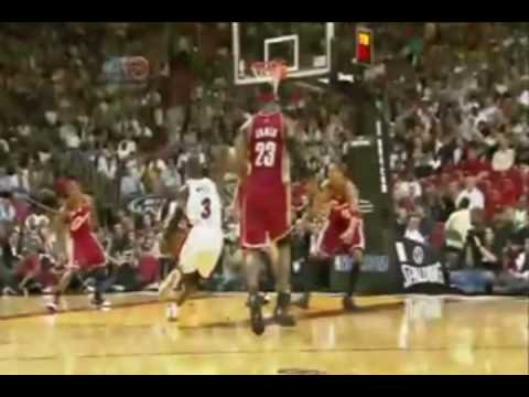 Dwayne Wade Dunks On Varejao Commercial