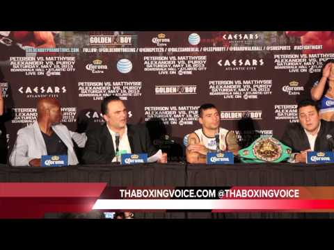 PETERSON VS MATTHYSSE FULL POST FIGHT PRESS CONFERENCE