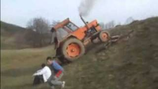Tractor Fail and Flip Over Crash