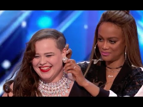 Judges Help Yoli To Deliver A Stunning Cover Of Ed Sheeran | Week 1 | AGT 2017