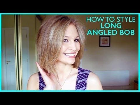 How to Style a Long Angled Bob!