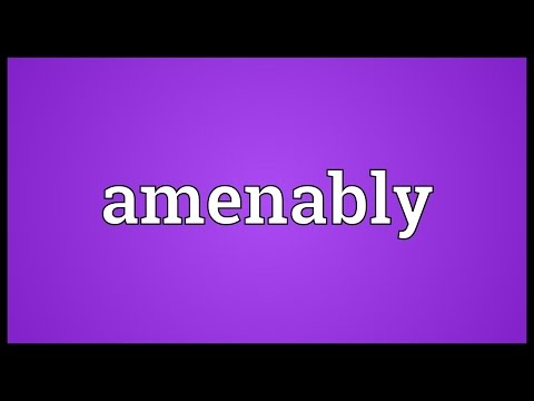 Header of amenably