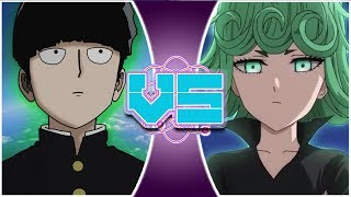 MOB vs TATSUMAKI! (Mob Psycho 100 vs One Punch Man) | REWIND RUMBLE
