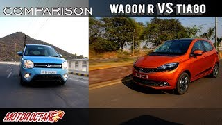 Maruti Wagon R vs Tata Tiago 2019 Comparison | Hindi | MotorOctane