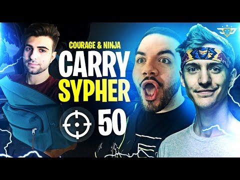 COURAGE AND NINJA CARRY SYPHER TO A 50 BOMB VICTORY! (Fortnite: Battle Royale)
