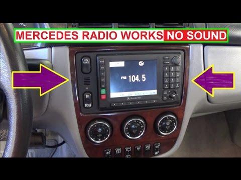 Mercedes Radio NO SOUND  NO CD PLAYER INSTALLED. Radio Works but NO AUDIO