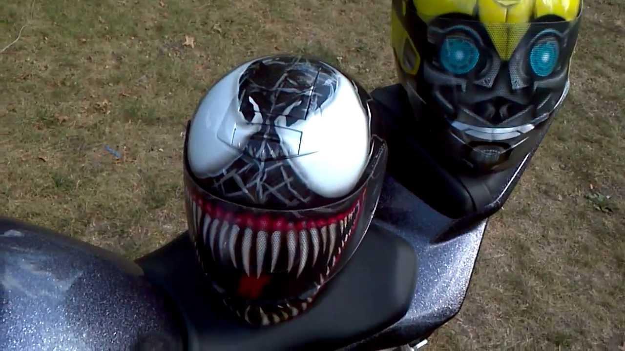 Venom Motorcycle Helmet Bumblebee And Venom Helmet
