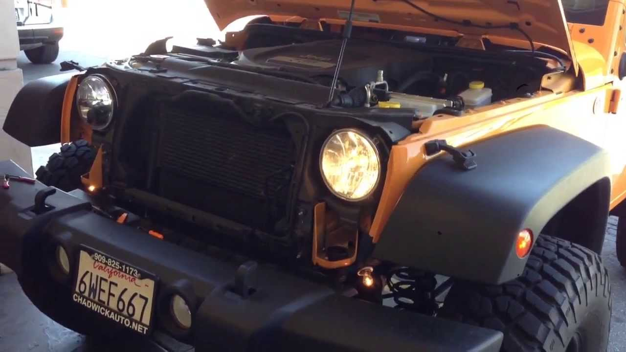 Truck Lite 7 Quot Led Headlight Vs Stock On Jeep Jk Wrangler