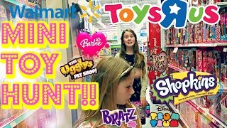 TOY HUNT at Walmart and Toys R Us - SHOPKINS SWAPKINS 12 PACK FIND!