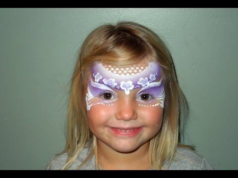 One Stroke Flower Fairy Face Painting | Marvelous Masks Chicago Face Painting