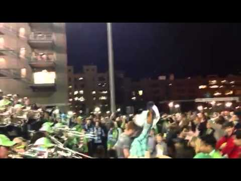 After game celebration Macklemore Style: Seattle Sounders Beat FC Dallas