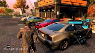 Watch Dogs car unlock and theft gameplay