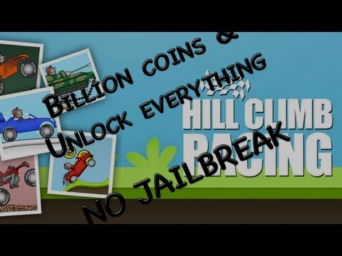 Hill Climb Hack - Billion Coins and Unlock Everything! (NO Jailbreak) iPhone. iPad and iPod Touch
