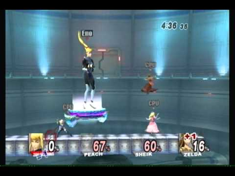 Brawl Hacks - Giant Zero Suit Samus in FFA