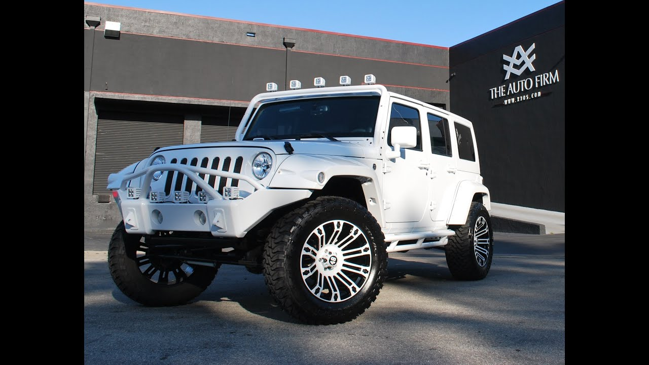 Lifted Jeep Srt8 >> 2013 Avorza Jeep Wrangler White Edition - The Auto Firm by ...