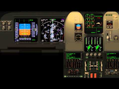 IFR landing at Los Angeles Int. Airport KLAX A319