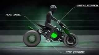 Motorcycles of the future. Kawasaki J Concept electric motorcycle.