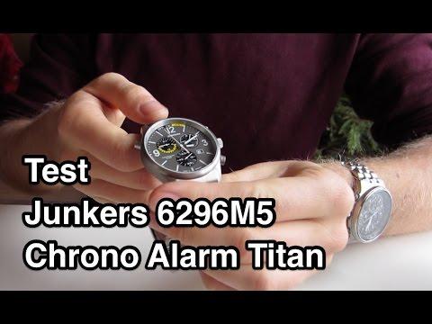 Test & Testbericht Junkers 6296M5 Chrono Alarm Titan unboxing Video Review Erfahrung Meinung deutsch