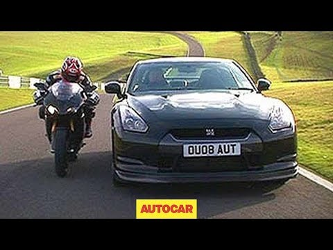 Car vs Bike (Nissan GT-R vs Ducati) by autocar.co.uk - part two